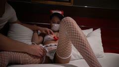 富二代私人会所啪啪啪19岁美乳混血模特援交妹高颜值前凸后翘护士情趣白网袜吹箫一流