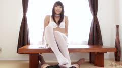 美腿控足交系列:白色内衣足交-299
