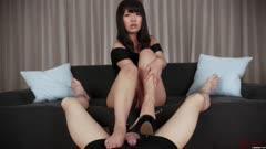美腿控足交系列:黑衣足交-288