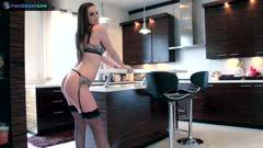 BRUNETTE BABE TORI BLACK IN HER SEXY LINGERIE FELL IN LOVE WITH HER DILDO Z4