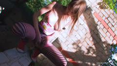 WoWGirls系列:粉色小美女在户外废弃房子自慰 Z4